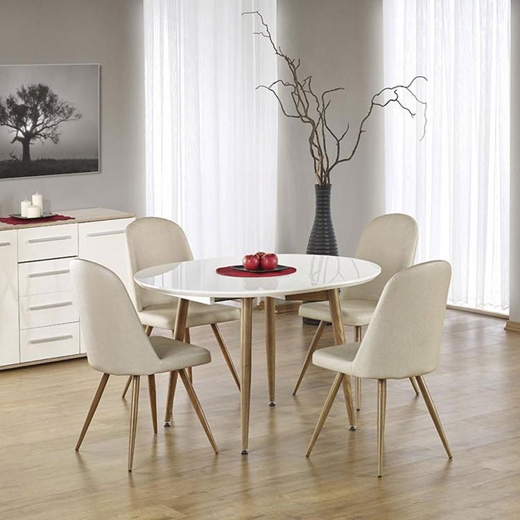 Tavolo allungabile tondo Papiro Gihome ® bianco lucido ...