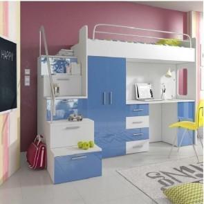 Cameretta per bambini Simone Gihome ® blu lucido