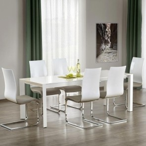 Tavolo allungabile Falco Gihome ® 130-250 bianco lucido