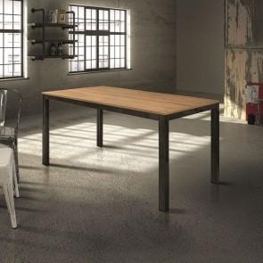Tavolo allungabile Henry Gihome ® 160 legno rovere e metallo
